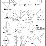 Origami Crane Instructions 4 Origami Paper Crane Instructions Coloring Pages In 2018
