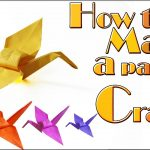 Origami Crane Instructions How To Make A Paper Crane Tutorial Origami Crane Youtube