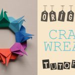 Origami Crane Instructions Origami Crane Wreath Tutorial Youtube