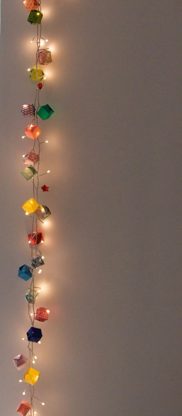 Origami Decoration Bedroom 33 Awesome Diy String Light Ideas Pinterest Origami Garland