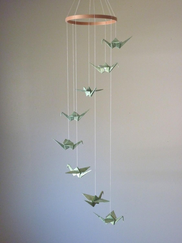 Origami Decoration Bedroom Children Decor Origami Crane Mobile Ba Mobile Art Mobile