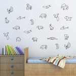 Origami Decoration Bedroom Diy Origami Animals Vinyl Wall Decal Bedroom Geometric Wall Tattoo