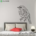 Origami Decoration Bedroom Geometric Origami Wall Decal Bird Decals For Walls Removable Vinyl