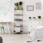 Origami Decoration Bedroom Original Origami Decoration In Bright Bedroom Interior Stock Photo