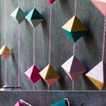 Origami Decoration Diy Diy Paper Geode Garland Beautiful Paper Crafts Pinterest Diy