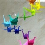 Origami Decoration Diy How To Make A Colorful Origami Crane Mobile Diy Home Tutorial