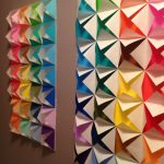 Origami Decoration Diy Wall Art Colorful Origami Wall Diy Projects Pinterest Origami Walls