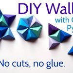Origami Decoration Diy Wall Art Diy Paper Wall Art With Origami Pyramid Pixels Easy Tutorial And