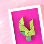 Origami Decoration Diy Wall Art Diy Wall Decor From Paper Tangram Cactus Papershape