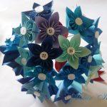 Origami Kusudama Flower How To Make Blue Kusudama Flower Bouquet Learn 2 Origami Origami Paper Craft