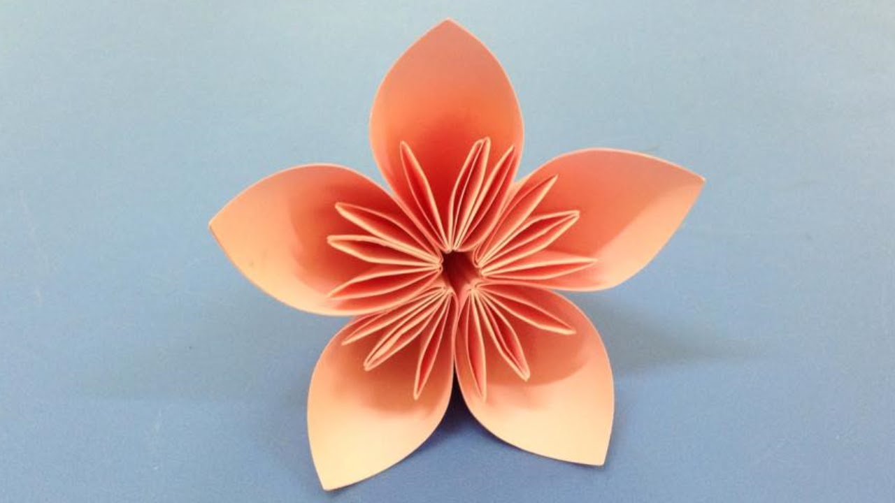 Origami Paper Flowers How To Make A Kusudama Paper Flower Easy Origami Kusudama For