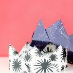Origami Paper Pattern Origami Crown Tutorial Step Step Consumer Crafts