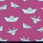 Origami Paper Pattern Origami Seamless Pattern With Origami Figures On Vector Image