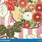 Origami Paper Pattern Traditional Japanese Pattern Origami Paper Stock Illustration