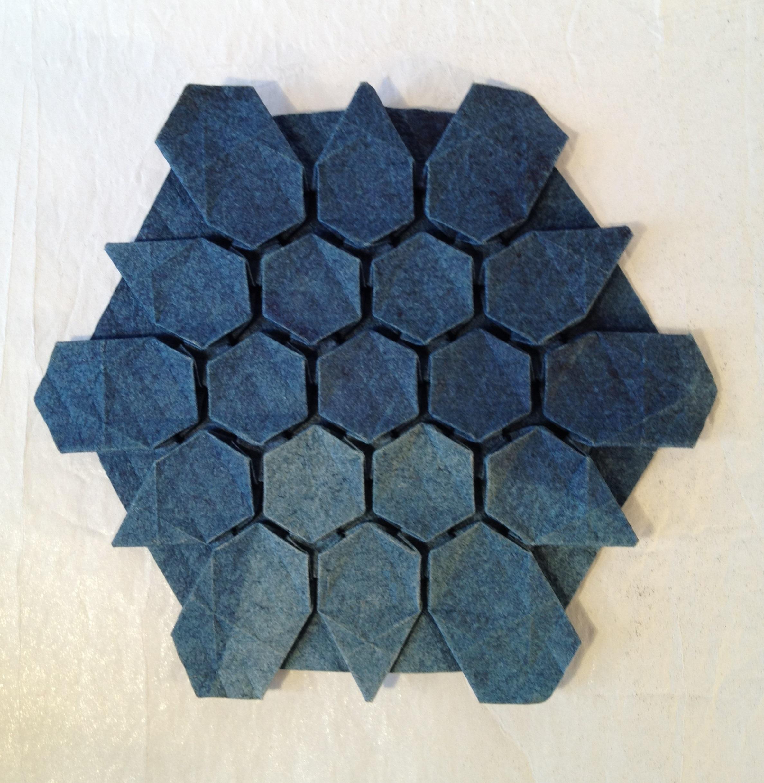 Origami Tessellations Hexagons Hexagons Friesen Folding