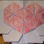 Origami Tessellations Hexagons Origami Tessellation Heart On Hexagons Youtube
