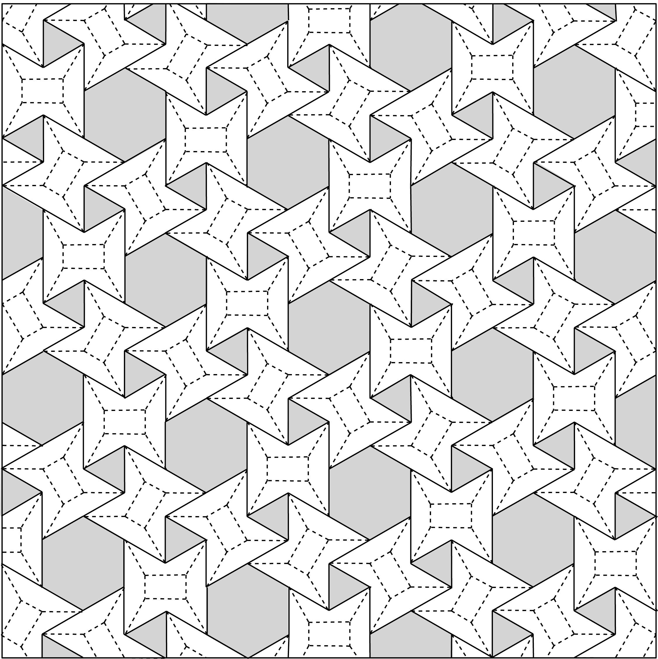 Origami Tessellations Pattern 3636 Waterbomb Flagstone Tessellation Crease Pattern Origami