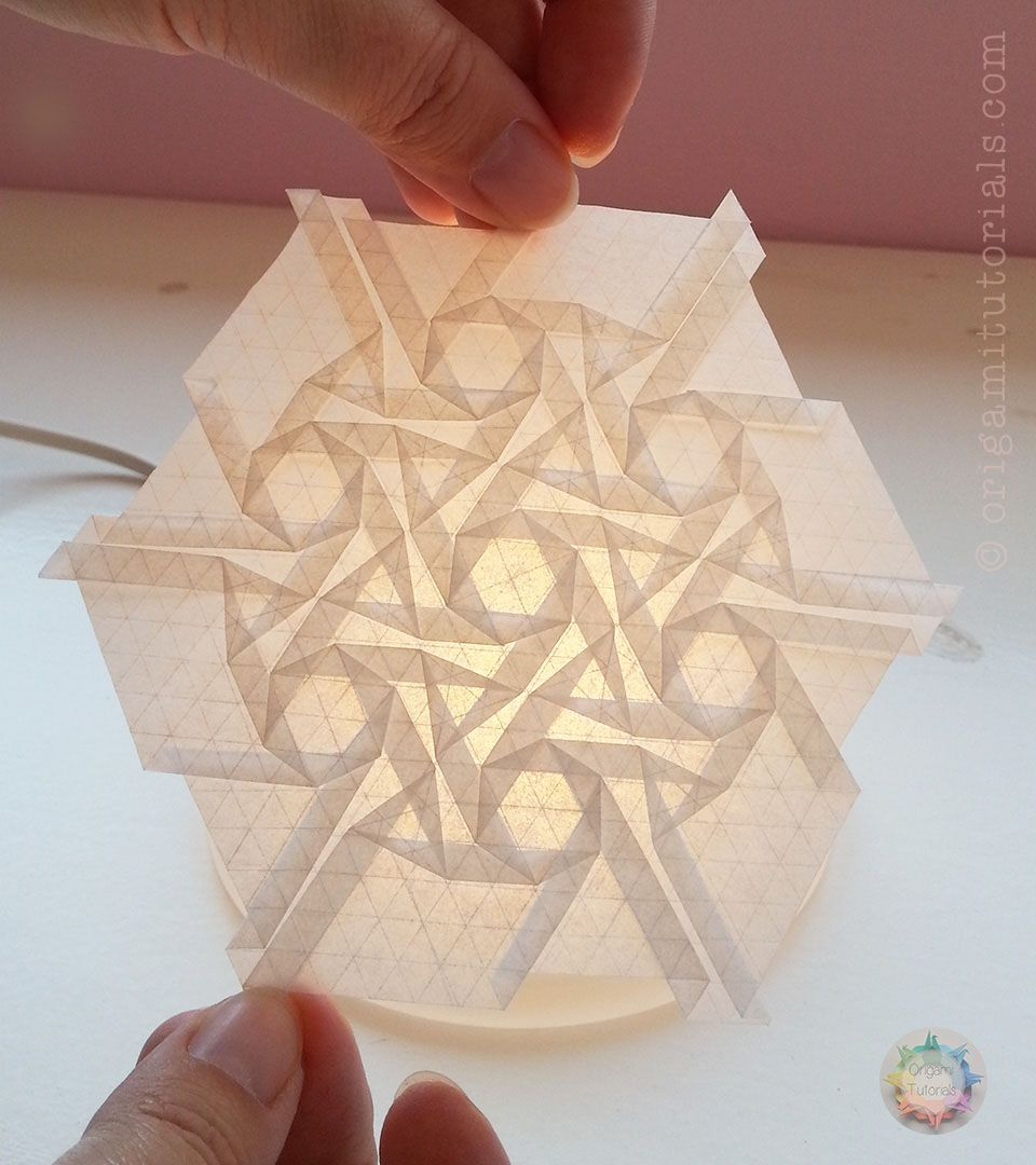 Origami Tessellations Tutorial Squares Celtic Circle Tessellation Origami Pinterest Origami Origami