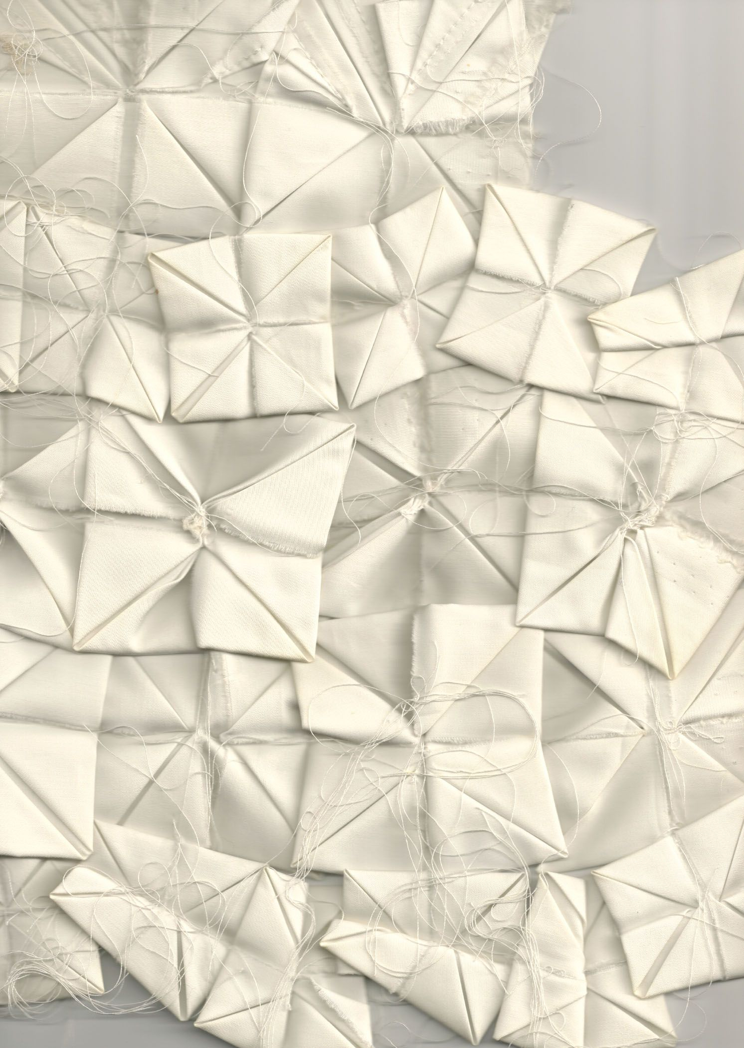 Origami Tessellations Tutorial Squares Fabric Origami With Folded Squares For The Front Panel Of A Shirt