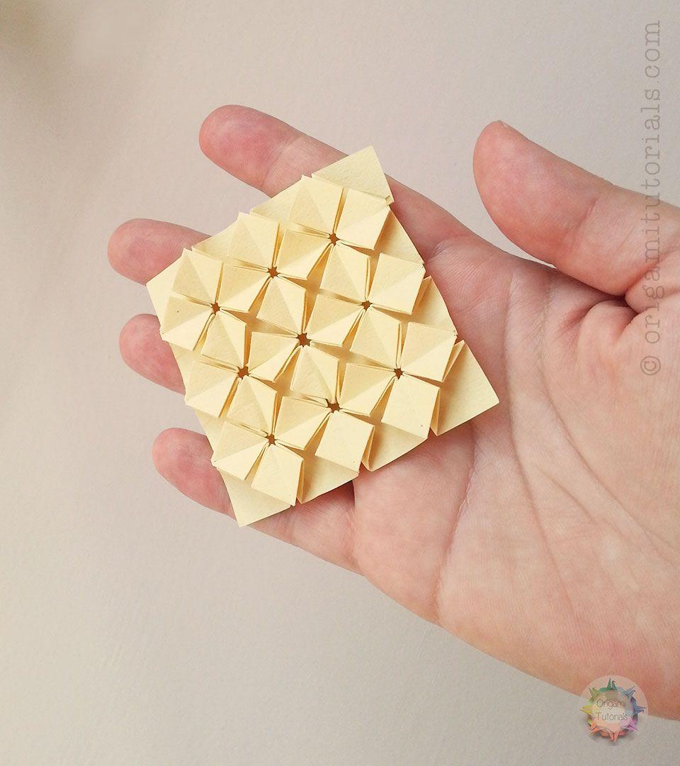 Origami Tessellations Tutorial Squares Origami Miniature High Density Hydrangea Tessellation Origami