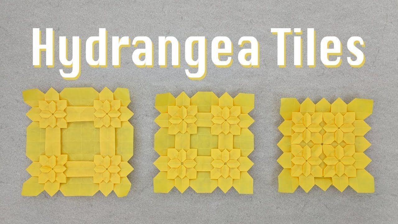 Origami Tessellations Tutorial Squares Origami Tessellation Tutorial Hydrangea Tiles Shuzo Fujimoto And