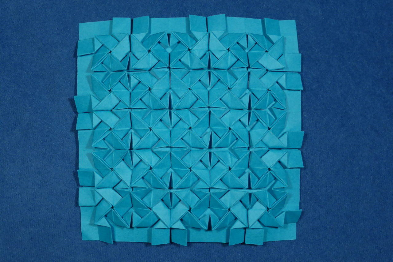 Origami Tessellations Tutorial Squares Origami Tessellations Models Folded Micha Kosmulski