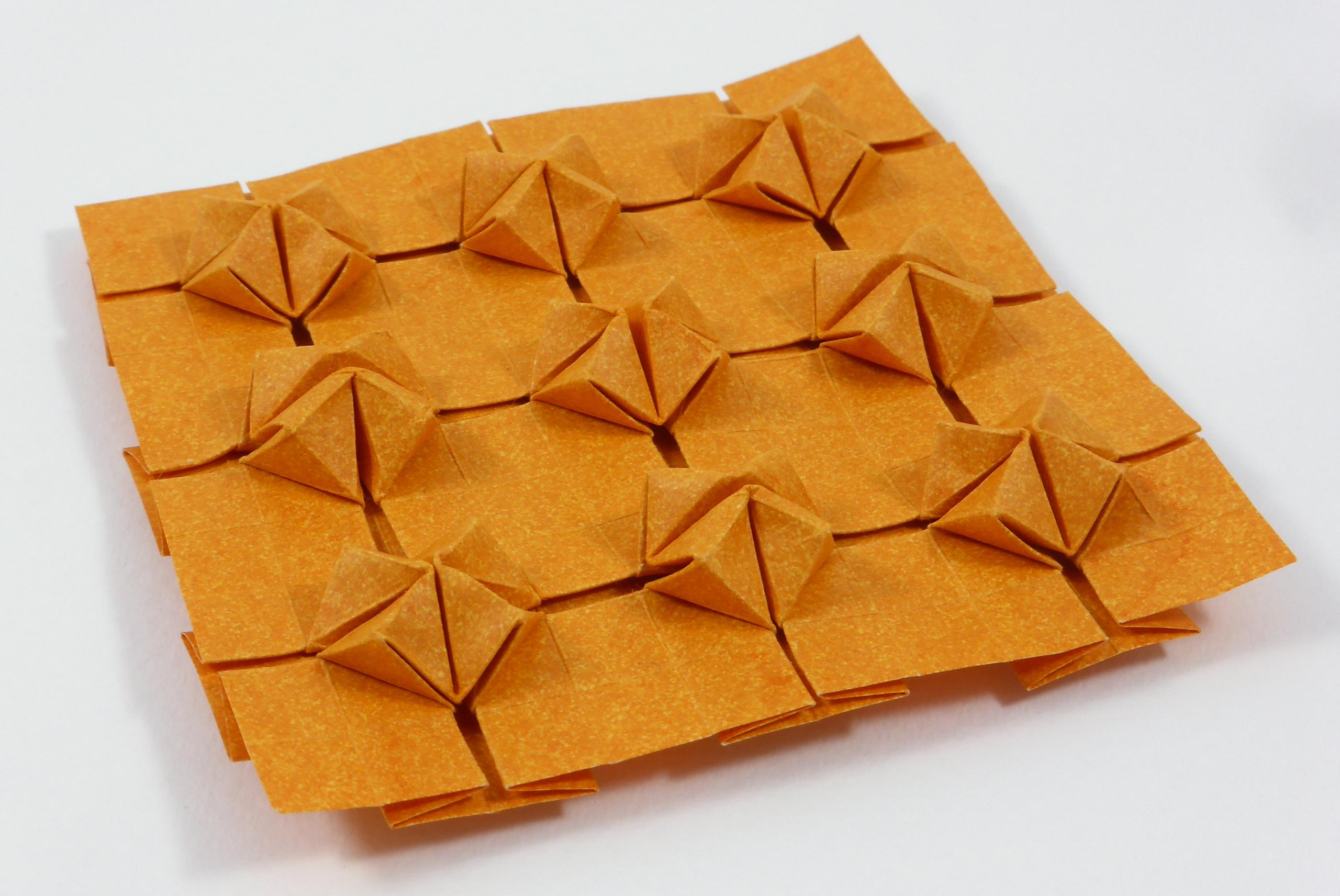 Origami Tessellations Tutorial Squares Origami Tessellations Models Folded Micha Kosmulski