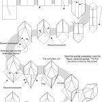 Origami Tutorial Geometric Diagram For Ilex Kusudama Origami Tutorials 3 Pinterest