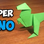 Paper Origami Easy How To Make An Easy Origami Dinosaur Youtube