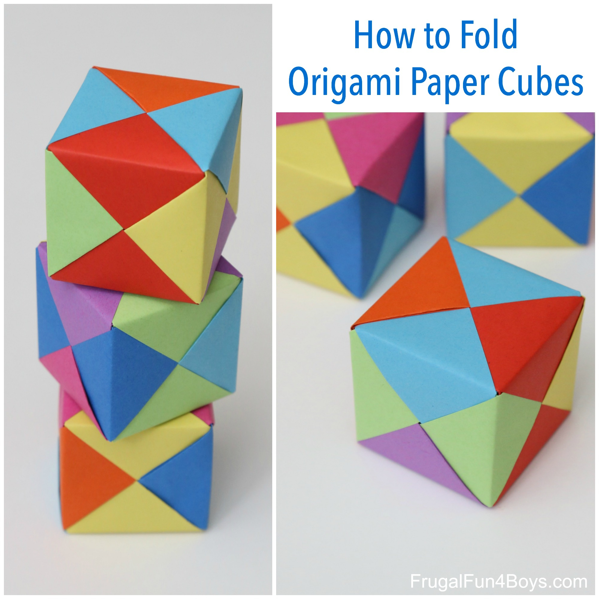 Paper Origami Step By Step How To Fold Origami Paper Cubes Frugal Fun For Boys And Girls