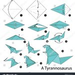Paper Origami Step By Step Step Step Instructions How Make Stock Vector Royalty Free