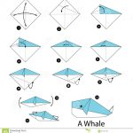 Paper Origami Step By Step Step Step Instructions How To Make Origami Whale Stock Vector