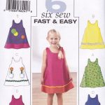Pattern Sewing Easy Butterick Sewing Pattern Very Easy Girls Dress Sizes 1 6 Years B3772