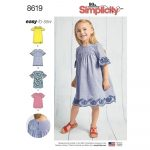 Pattern Sewing Easy Childs Easy To Sew Dresses Simplicity Sewing Pattern 8619 Sew