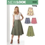 Pattern Sewing Easy New Look Womens Easy Skirt Sewing Pattern 6346 Hobcraft