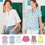 Pattern Sewing Easy Simplicity 8090 Misses Easy To Sew Button Shirt And Pullover Top