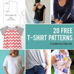 Pattern Sewing Women 20 Free T Shirt Patterns You Can Print Sew At Home Its Always