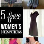 Pattern Sewing Women 5 Completely Free Womens Dress Patterns