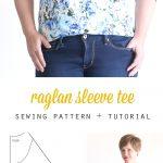 Pattern Sewing Women Free Raglan Tee Shirt Sewing Pattern Womens Size Large Its