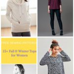 Pattern Sewing Women Free Sewing Patterns 15 Fall And Winter Tops Patterns For Women