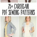 Pattern Sewing Women Womens Cardigan Pdf Sewing Patterns Sewing For Women Pinterest