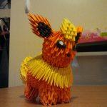 Pikachu Origami 3d 3d Origami Flareon Pokegami On Deviantart