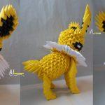 Pikachu Origami 3d 3d Origami Jolteon Jobe3do On Deviantart