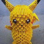 Pikachu Origami 3d Origami 25 Pikachu 3d Origami Sophieekard On Deviantart