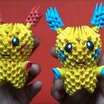 Pikachu Origami 3d Origami 3d Minun Y Pluslepokemon Youtube