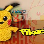 Pikachu Origami 3d Pikachu 3d Origami Pekeo Youtube
