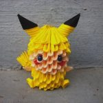 Pikachu Origami 3d Pikachu Child 3d Origami Sophieekard On Deviantart