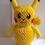 Pikachu Origami 3d Pokmon Pikachu Origami 3d Loisirs Cratifs Scrapbooking Par