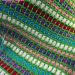 Scrapghan Crochet Free Pattern Scrap Boxy Neon Afghan A Scrap Yarn Project Bobbles Baubles