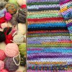 Scrapghan Crochet Free Pattern Scrap Easy Scrap Yarn Scarf Or Blanket Crochet Tutorial Youtube